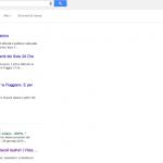 Posizionamento del mio blog Vista Sul Palco digitando su Google (senza login) la keyword 'notizie teatro'. Prima pagina, 5 posizione_dati febbraio 2015